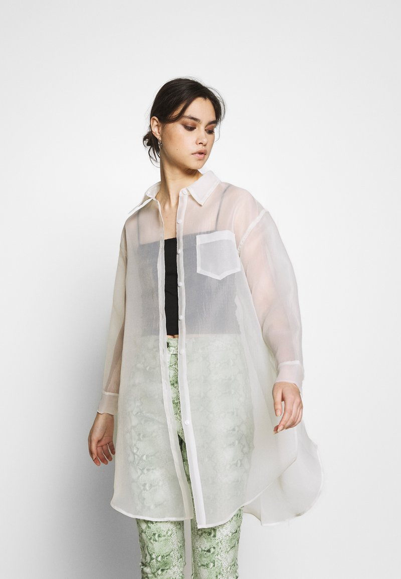 Who What Wear - THE OVERSIZED SHIRT - Camisa - white
