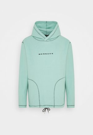 CONTRAST STITCH POLAR HOODIE UNISEX - Hoodie - dusty mint