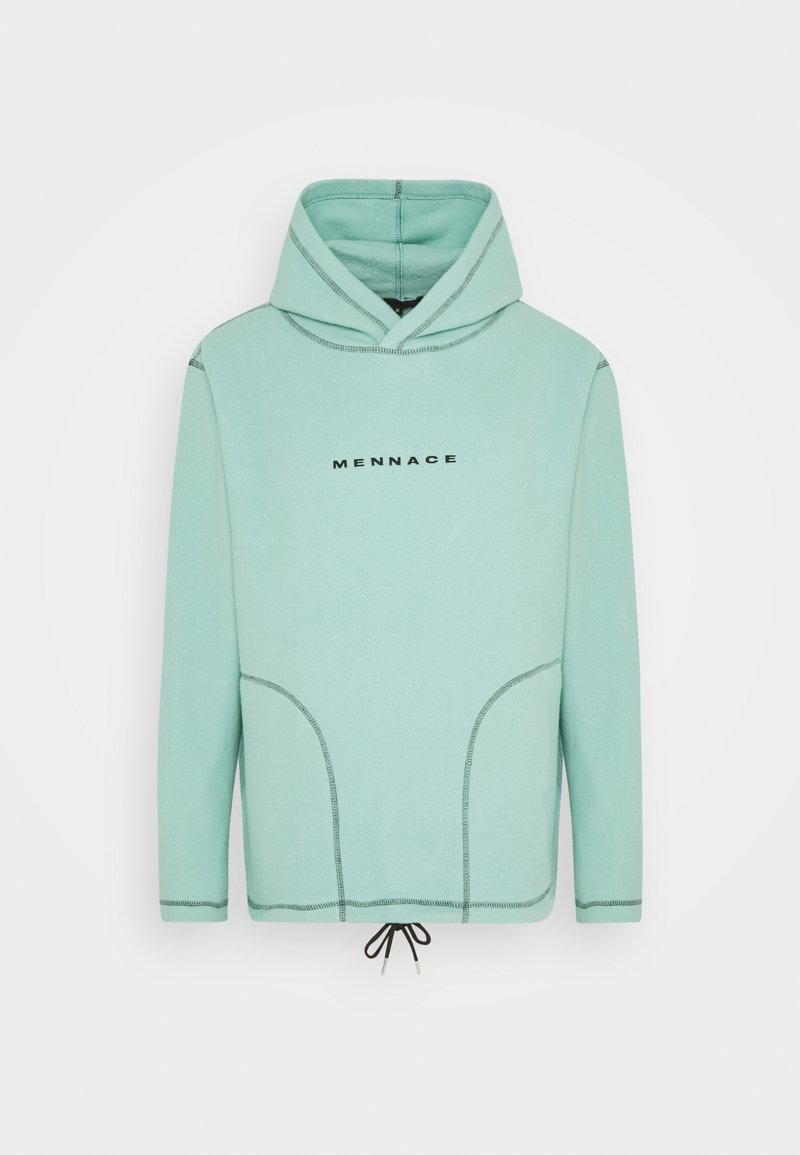 Mennace - CONTRAST STITCH POLAR HOODIE UNISEX - Hoodie - dusty mint