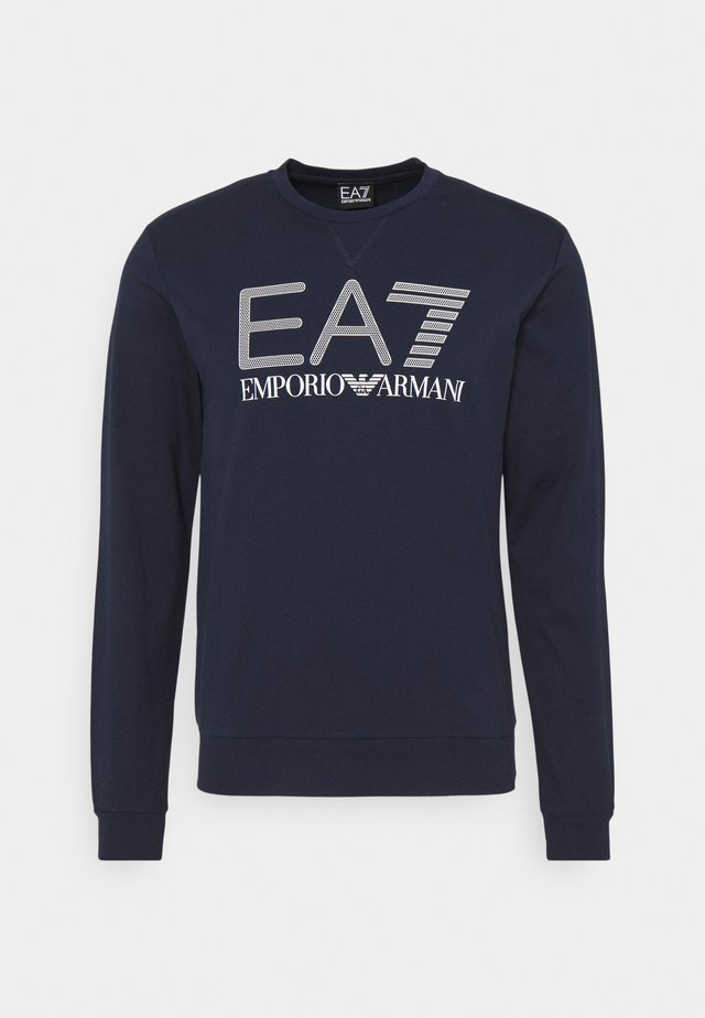 Sweatshirt - dark blue/white