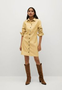 Mango - NASTIA - Shirt dress - giallo pastello - 1