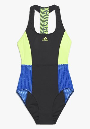 Plavky - dark blue/neon green