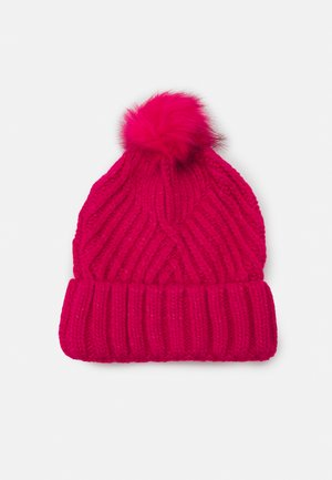 GEO BOBBLE HAT - Muts - hot pink