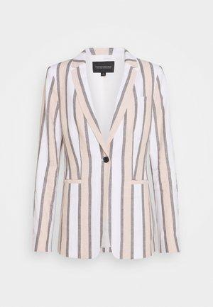 BOLD STRIPE - Blazer - white/grey