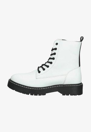 Snørestøvletter - white leather
