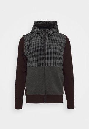 COLORBLOCK MANCHEGO - Zip-up hoodie - burgundy