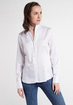 LONG SLEEVE - Button-down blouse - white/light blue