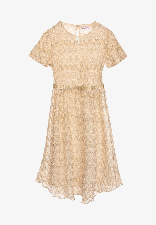 DRESS - Robe de soirée - gold