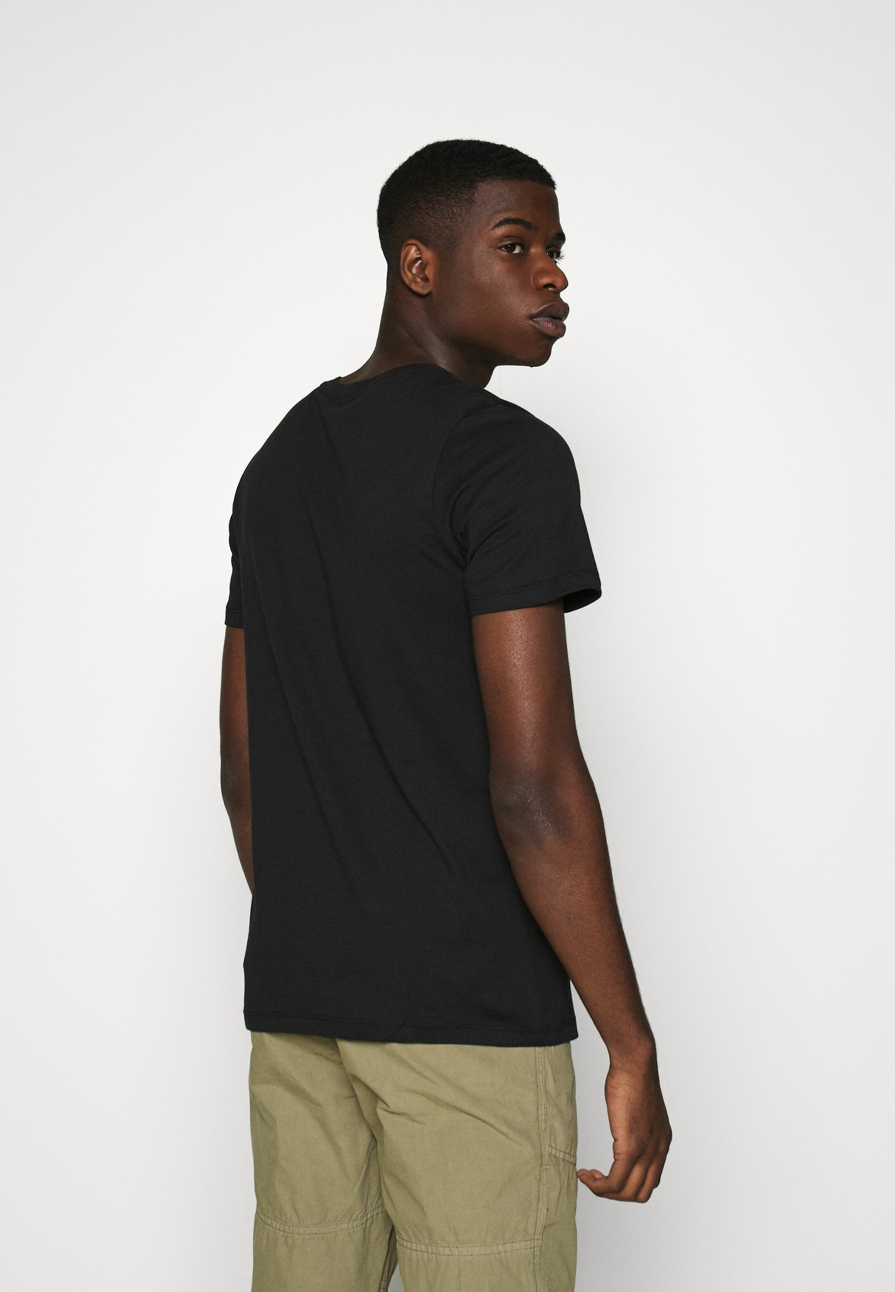 Jack & Jones JCOEXIT TEE CREW NECK - Print T-shirt - black BtfLY