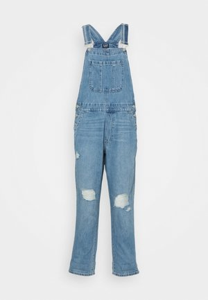 SLOUCHY OVERALL  - Lacláče - light-blue denim