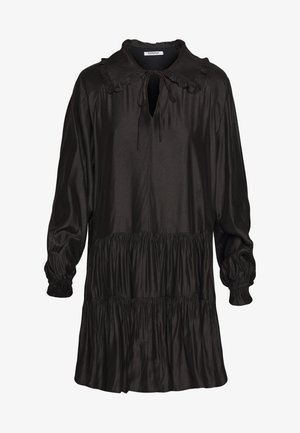 MINI V NECK TIERDRESS - Korte jurk - black