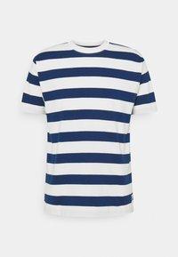 Marc O'Polo DENIM - SHORT SLEEVE BLOCK STRIPE - Print T-shirt - multi/estate blue - 0