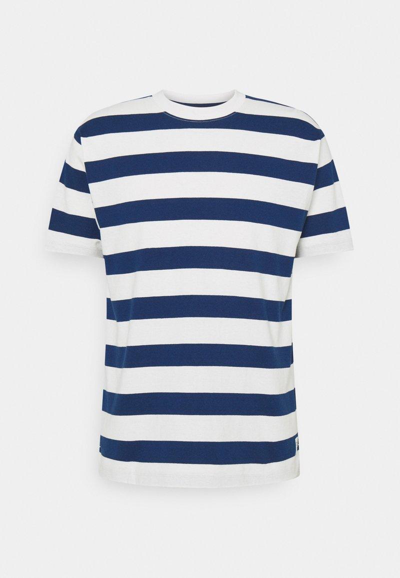 Marc O'Polo DENIM - SHORT SLEEVE BLOCK STRIPE - Print T-shirt - multi/estate blue