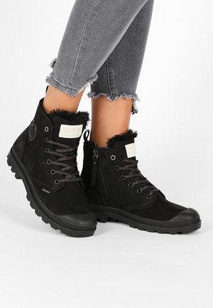 PAMPA HI ZIP - Lace-up ankle boots - black