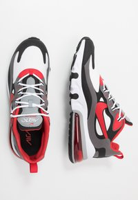 Nike Sportswear - AIR MAX  REACT - Sneakers - black/university red/white/iron grey/particle grey - 1
