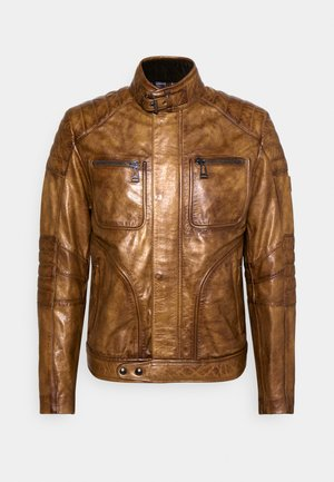 WEYBRIDGE JACKET - Leather jacket - burnished gold