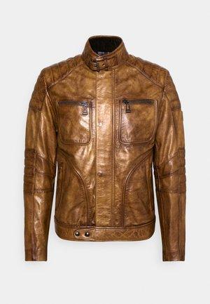 WEYBRIDGE JACKET - Kožená bunda - burnished gold