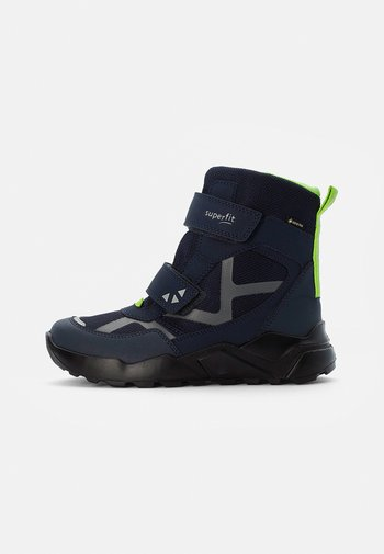ROCKET - Winter boots - blau/grün