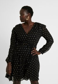 Glamorous Curve - Day dress - black/gold - 0