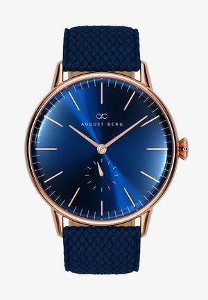 UHR SERENITY DEEP BLUE EYE BLUE PERLON 40MM - Horloge - sunray blue