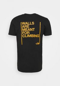 The North Face - WALLS ARE MEANT FOR CLIMBING - Triko spotiskem - black - 1
