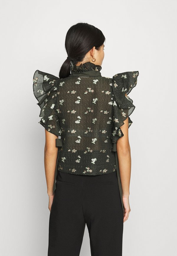 Custommade STARLA - T-shirt z nadrukiem - dark olive/oliwkowy melanż XENX
