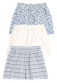 Next - BLUE/WHITE 3 PACK SHORTS (3MTHS-7YRS) - Shorts - blue - 0