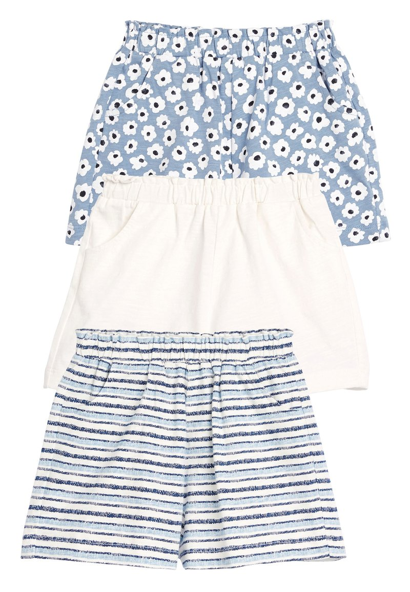 Next - BLUE/WHITE 3 PACK SHORTS (3MTHS-7YRS) - Shorts - blue