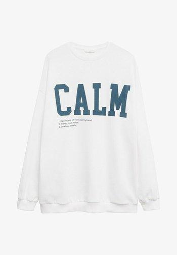 CALM - Sweatshirt - blanc cassé
