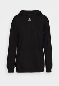 adidas Originals - TREFOIL ESSENTIALS HOODED - Jersey con capucha - black - 4