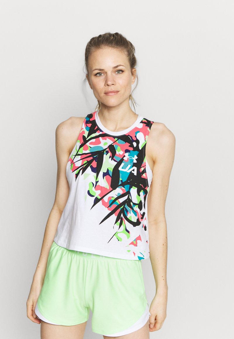 Under Armour - RUN FLORAL TANK - Top - white