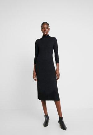 TNECK COLUMN DRESS - Shift dress - black