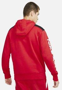 Nike Sportswear - HOODIE - Zip-up sweatshirt - university red black white - 4