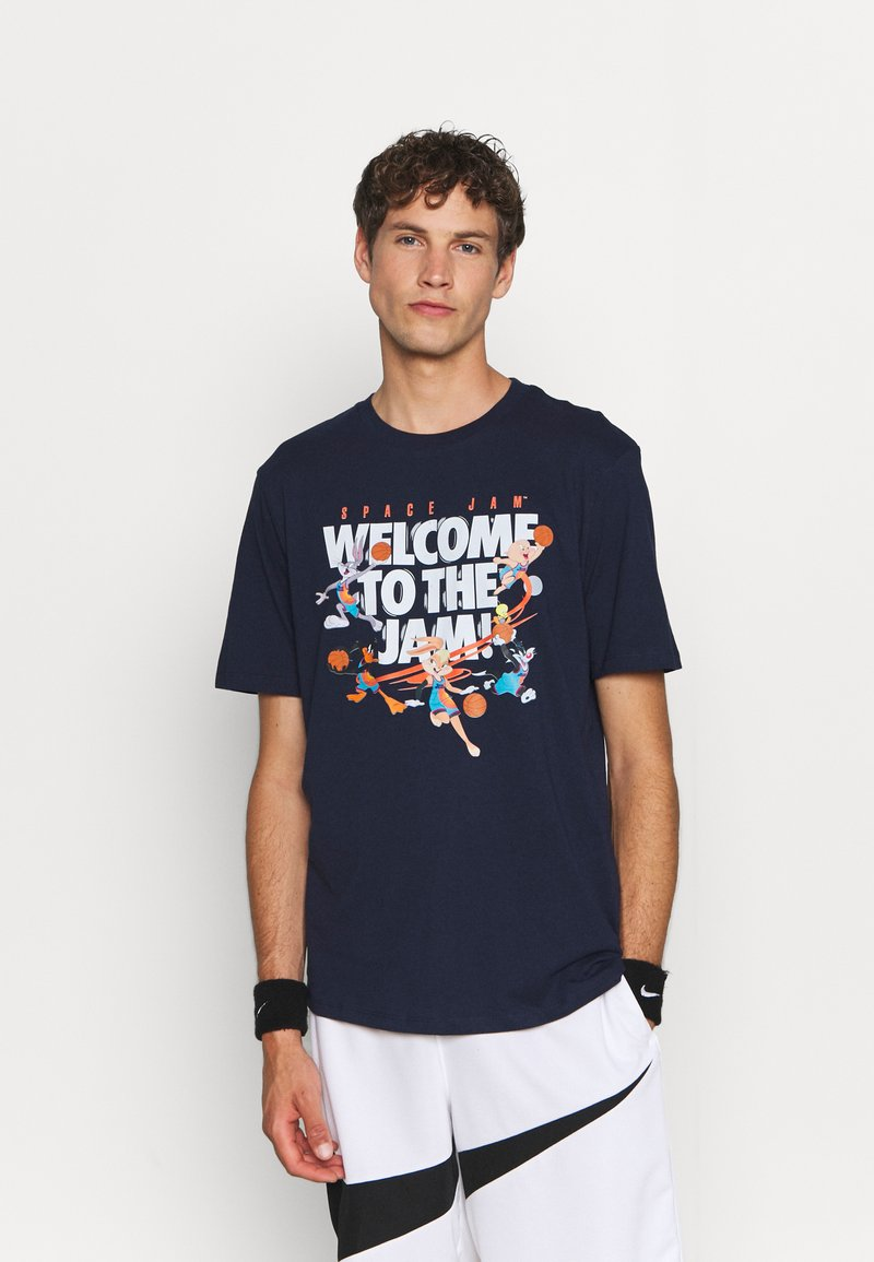 Outerstuff - SPACE JAM 2 WELCOME TO THE JAM TEE - Print T-shirt - navy