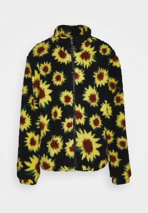 SUNFLOWER BORG ZIP THRU UNISEX - Chaqueta de invierno - black