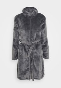 Hunkemöller - ROBE ZIP EMBOSSED - Dressing gown - silver grey - 4