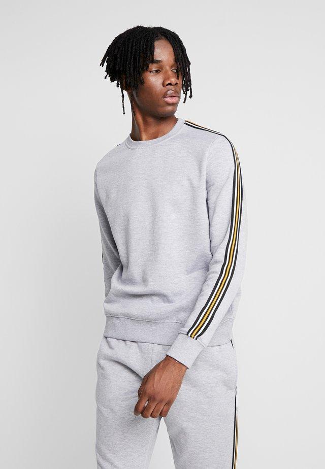 TAPED CREW - Sweater - grey marl