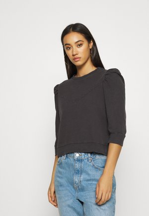 NMISAAC SLEEVE PUFF - Sweatshirt - black
