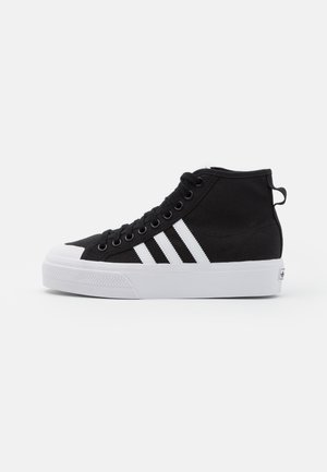 NIZZA PLATFORM MID - High-top trainers - core black/footwear white