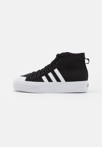 NIZZA PLATFORM MID - Sneakers alte - core black/footwear white