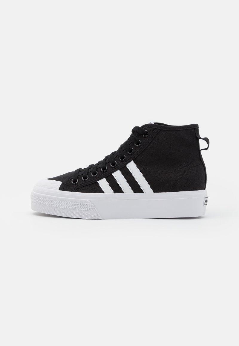 adidas Originals - NIZZA PLATFORM MID - High-top trainers - core black/footwear white