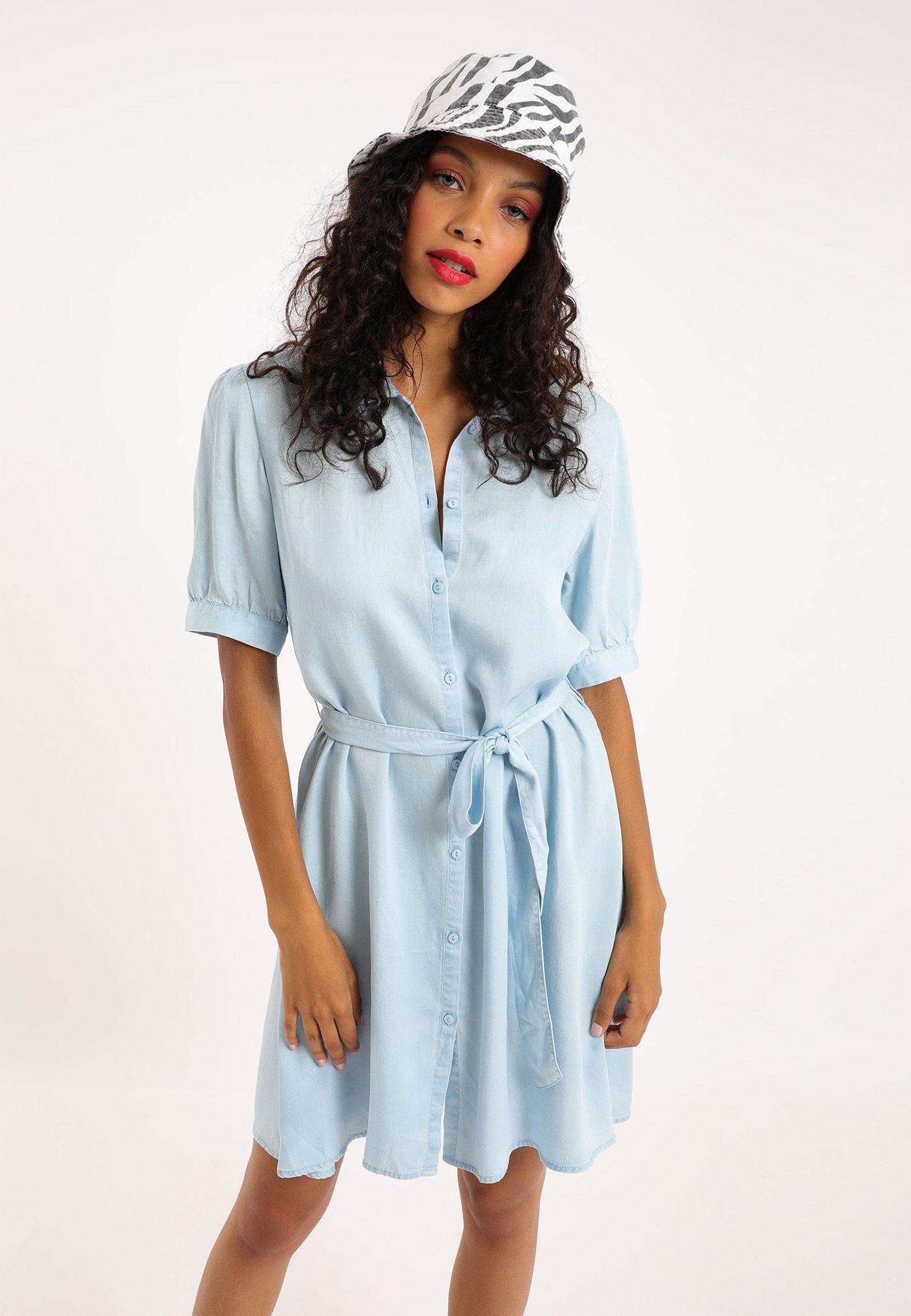 Pimkie Robe Chemise Hellblau Bleu Clair Zalando Fr