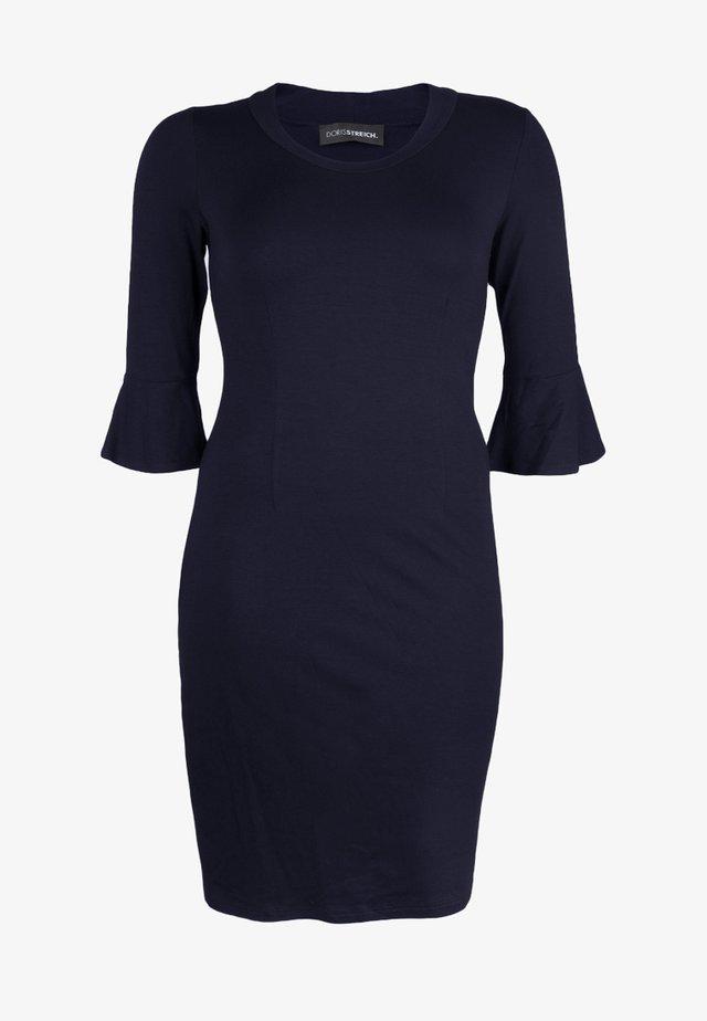 MIT TROMPETENÄRMELN - Jersey dress - dark blue