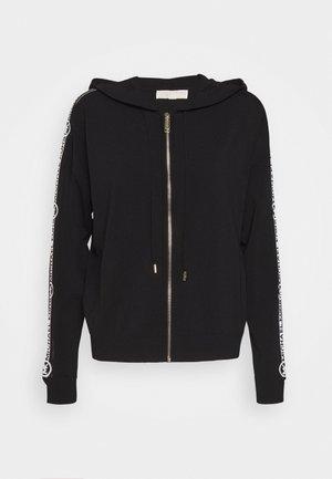 LOGO ZIP HOODIE - Vest - black