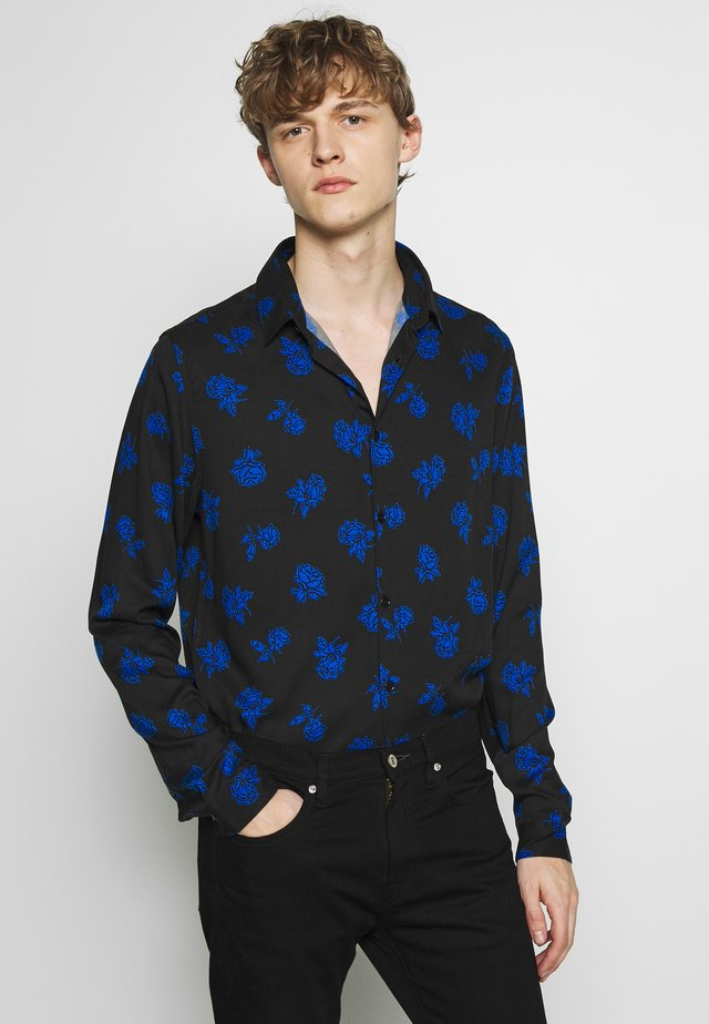 VINTAGE ROSES CHEMISE - Skjorta - black/blue