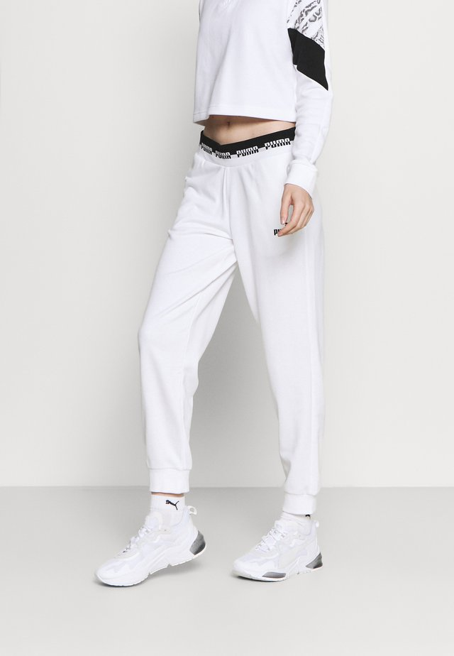 AMPLIFIED PANTS - Tracksuit bottoms - puma white
