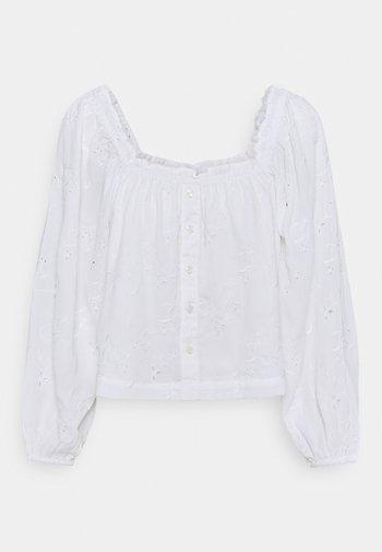BUTTON THROUGH PUFF - Bluser - white