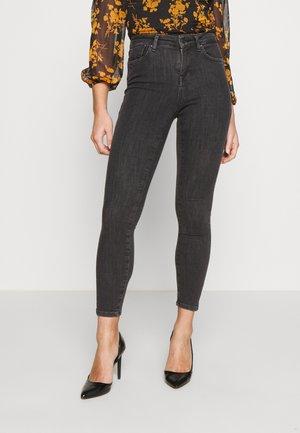 ONLPOWER MID PUSH UP - Jeans Skinny Fit - grey denim