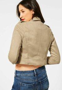 Street One - Faux leather jacket - beige - 1