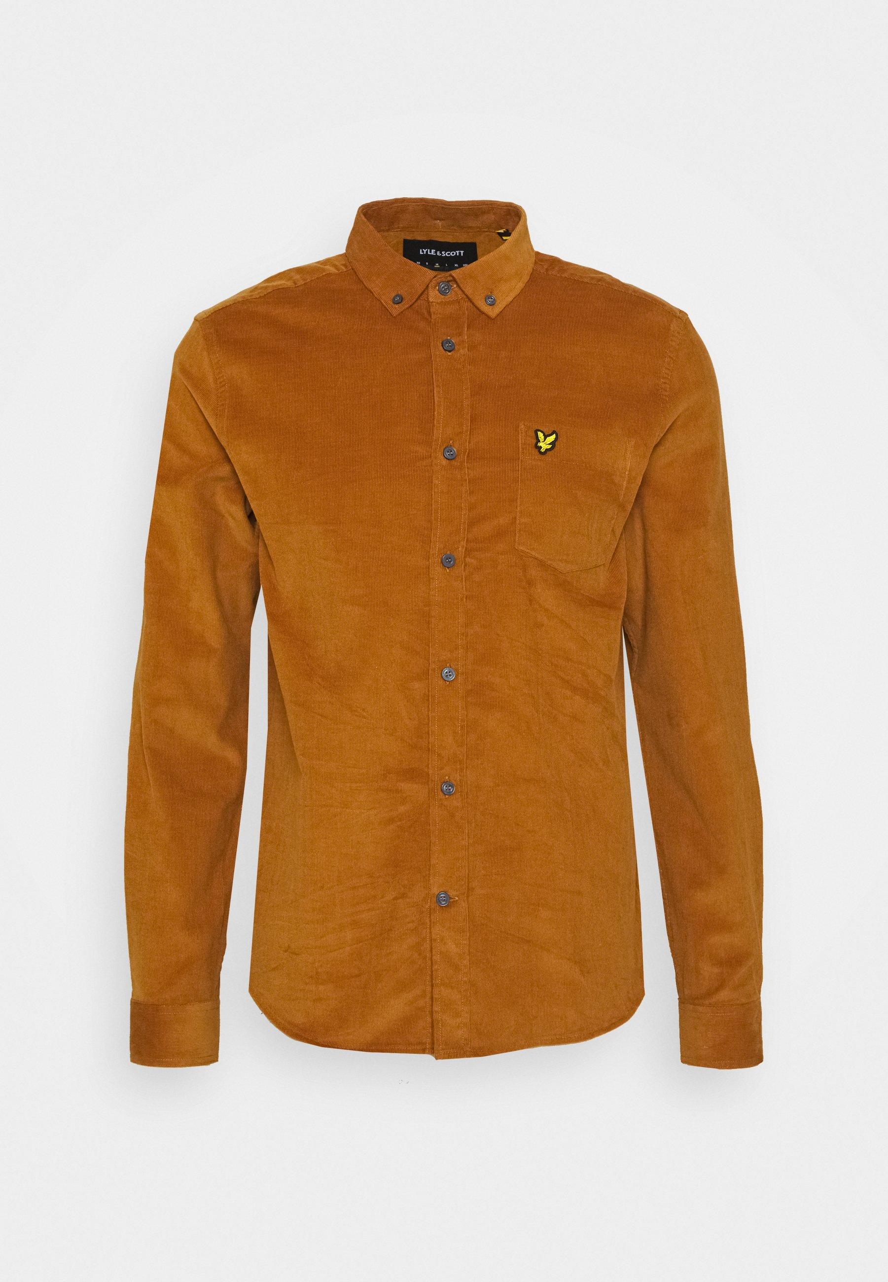 Men NEEDLE SHIRT - Shirt - light brown